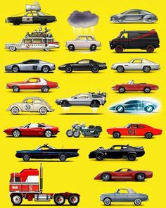 Which one you would like to have to your garage? Welches möchten Sie in Ihrer Garage haben? Carros Hot Wheels, Famous Movie Cars, Car Posters, Us Cars, Batmobile, Amazing Cars, Awesome, Concept Cars, Cars And Motorcycles