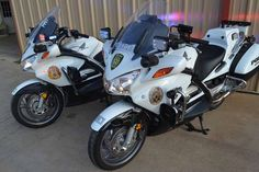 Honda Police Motorcycle for Live Oaks. 2010 Model is on the left, 2014 model is on the right. http://www.defendersupply.com/