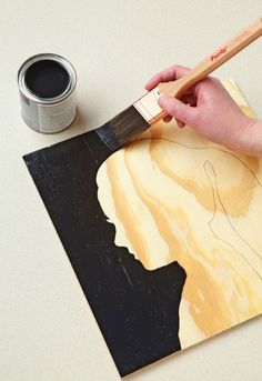 Silhouette Wall Art    Dress up your walls with this super-simple project using paint and plywood. Click here for tutorial!