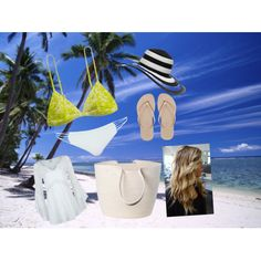 Fiji by geriksen on Polyvore featuring polyvore, fashion, style, Mikoh, L*Space, Havaianas, Doug Johnston and GUESS