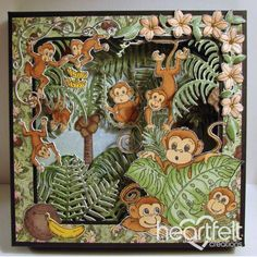 Heartfelt Creations - Monkeying Around Shadowbox Project