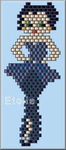 boop peyote pattern, pattern also for beaded wings to make a Betty Boop angel Bead Loom Patterns, Peyote Patterns, Beading Patterns, Seed Bead Projects, Beading Projects, Stitch Crochet, Bead Crochet, Peyote Beading, Beadwork