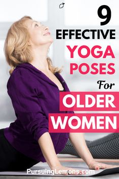 Yoga is a great low intense workout to keep healthy as we age. Improve your strength, balance, flexibility with these yoga poses most effective for older women! yoga poses for beginners YOGA POSES FOR BEGINNERS | IN.PINTEREST.COM HEALTH EDUCRATSWEB
