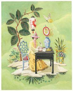 Harrison Howard chinoiserie print