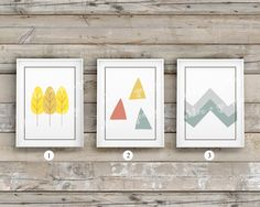 Kids Wall Art TRAIL BLAZER GIRL 5x7 Kids Wall Prints Childrens Wall Art Kids Room Decor Nursery Decor Nature Mountain (Matches larger print) by ChloeandGeorge on Etsy