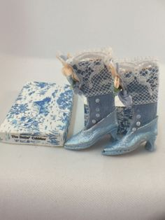 Sylvia Rountree, The Doll's Cobbler, IGMA fellow - lace topped Victorian boots. Very similar to a pair of Sylvia's boots that I own.