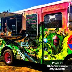 Charlotte is a vibrant city, just as Instagram user Angie C. (@bitofbrownsuga) captured in this #MyCharlotte photo of #clt food truck Taco Green-Go!