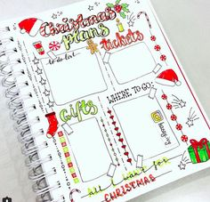 Christmas Bullet Journal Pages
