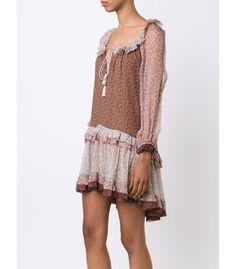 Zimmerman   'Eden' Multicolor Ruffle Mini Dress   ShopBazaar