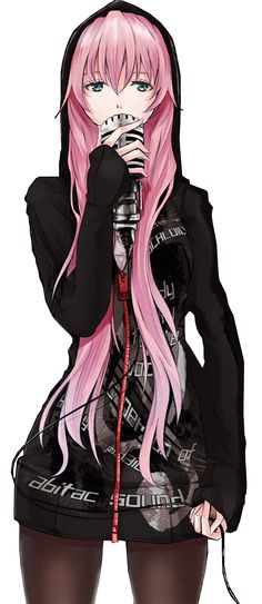 This is how I want to look like if I were to be animated. Lol love her pink hair <3