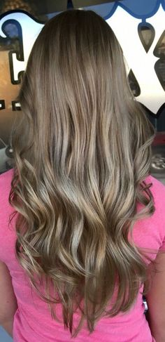 Sandy blonde balayage long hair #hairbyconnimaree