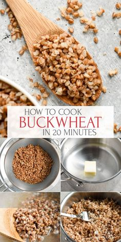 Buckwheat is a healthy, gluten-free seed with a nutty, toasty flavor and soft texture. It's so easy to prepare and inexpensive. Learn How to Cook Buckwheat kasha perfectly every time! Raw Dessert Recipes, Raw Food Recipes, Mexican Food Recipes, Cooking Recipes, Cooking Tips, Recipes Dinner, Drink Recipes, Desserts, How To Cook Buckwheat