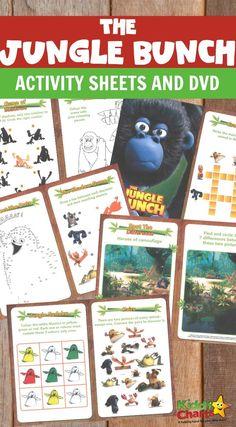 Free Printable Jungle Bunch Activity Sheets. These Jungle Bunch Activity Sheets are super fun for all Jungle Bunch fans :). There are five The Jungle Bunch activity sheets for children to have fun with. #freeprintables #junglebunch #kidsactivities