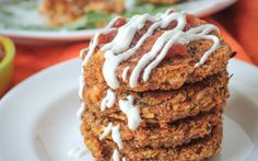 <p>These patties are crunchy on the outside and creamy on the inside. Zucchini, onions, salsa, and spices to complement the earthiness of the amaranth. </p>