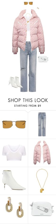 """-"" by babygloss ❤ liked on Polyvore featuring Calvin Klein 205W39NYC, RE/DONE, Christian Dior, Alexandre Birman, Versace, John Hardy and Versus"