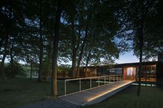 Completed in 2016 in Mill Run, United States. Images by Nic Lehoux. Bohlin Cywinski Jackson has designed four new dwellings at High Meadow, the new home base for Fallingwater Institute's summer residency programs in. Building Systems, Building Structure, Jackson, Sustainable Architecture, Landscape Architecture, Carbon Sequestration, Covered Walkway, Best Architects, Student House