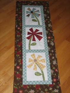 """He loves me, he loves me not"" table runner"