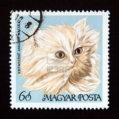 Hungarian postage stamp from Hungary (European Union) Stock Photo