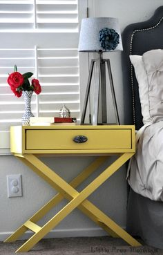 DIY X Base Accent Table Plans- Free DIY Plans | rogueengineer.com #XBaseAccentTable #BedroomDIYplans