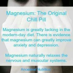 Magnesium- Tottally agree!!!! Stops mind chatter at night if taken a hour before bed!! I swear by it!!
