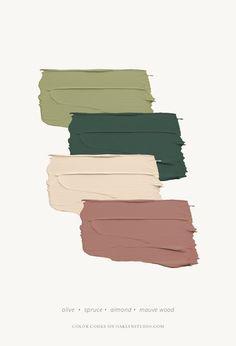 August Farbschema - Klicken Sie hier f r Farbcodes Oaklyn Studio paintcolorschemes Paint Color Schemes, Colour Pallette, Color Combos, Color Palette Green, House Color Schemes Interior, Taupe Color Palettes, Vintage Color Schemes, Green Color Schemes, Apartment Color Schemes