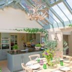 A kitchen/diner conservatory extension on a listed Georgian cottage
