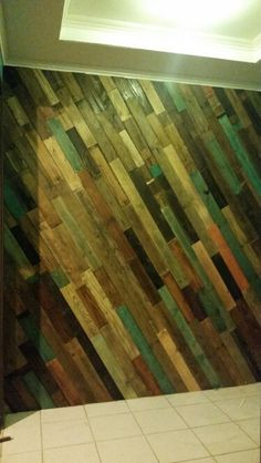 My pallet wall.... AWESOME SAUCE!