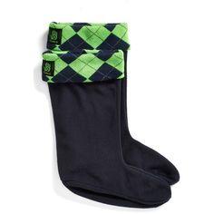 FiveLo 'Seattle' Argyle Fleece Cuff Socks ($17) ❤ liked on Polyvore featuring intimates, hosiery, socks, argyle socks, cuff socks, holiday socks and fleece socks