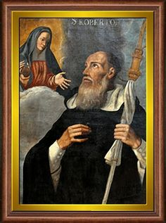 Saint Robert of Molesme 1028 17 April 1111 was an abbot one of the founders of the Cistercian Order and is honored as a Christian saint Robert of molesm Saint Robert, Catholic, Mona Lisa, Artwork, Painting, Traditional, Image, Saints, Nun