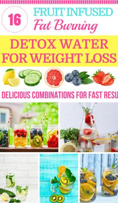 Amp up your weight loss with detox water! These awesome fat burning detox water recipes make boring water fun with delicious ingredients like lemon, cucumber, and strawberries! Apple cider vinegar makes the perfect body cleansing drink to flush fat, and the Jillian Michael's detox drink helps you lose 5-8 pounds in 7 days! If you want to lose weight, get a flat belly, have more energy, plus clear skin try these homemade detox waters!