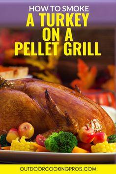 Pellet Grill Recipes, Grilling Recipes, Smoked Meat Recipes, Turkey Recipes, Grilled Turkey, Roasted Turkey, Vegan Thanksgiving, Thanksgiving Ideas, Roast Turkey Breast