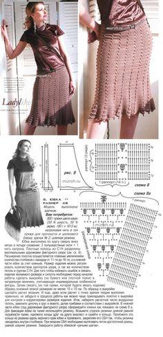Элегантная юбка крючком. Обсуждение на LiveInternet - Российский Сервис Онлайн-Дневников