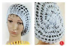 Loom knit netted snood slouchy beanie FREE Pattern