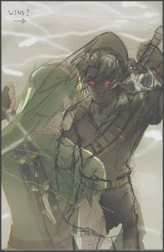 Unfinished dark/light Link - thatLD- I don't care that it's unfinished; it's so cool looking. :)