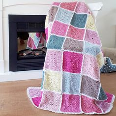 Crochet Pattern - US Terms - Spring Blossoms Blanket