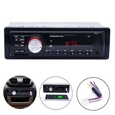 2016 New Arrival Car Stereo Audio Player FM Aux Input Receiver In-Dash SD USB In Dash Music MP3 Radio Player