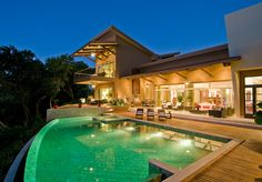 Costa Rica Luxury Villas | Villa Belvedere Two private pools and multiple decks surrounding the pools