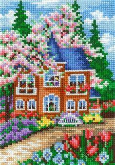 Dmc Cross Stitch, Cross Stitch House, Cross Stitch Finishing, Beaded Cross Stitch, Cross Stitch Borders, Cross Stitching, Cross Stitch Embroidery, Funny Cross Stitch Patterns, Cross Stitch Designs