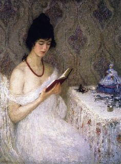 books0977: Coral (1919).  Helen M. Turner (American, Impresionismo, 1858-1958).  Temple sobre lienzo.  Speed Art Museum, Louisville, KY.  ...
