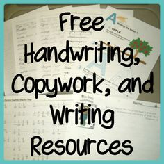 Free Handwriting, Copywork, and Writing Resources for Pre-K to cursive writing. All levels. Pre Writing, Writing Lessons, Writing Resources, Teaching Writing, Writing Skills, Teaching Tools, Writing Prompts, Teaching Resources, Cursive Handwriting