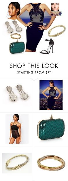 """Bez tytułu #15942"" by sophies18 ❤ liked on Polyvore featuring John Hardy, Lipsy, Oysho, Vivienne Westwood, David Yurman and Cartier"