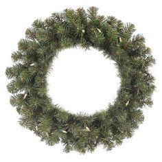 "Philips Pre-Lit Wreath - Warm White Lights (24"")"
