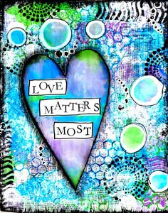Love Matters Most Mixed Media Print by StudioP3 on Etsy, $10.00