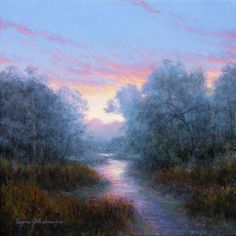 Light Upon the Water (painting by artist Layne Johnson)