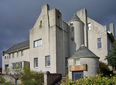 Hill House by Charles Rennie Macintosh. (While I, personally, prefer old and...older --ig) this is a beautiful blend of old and new.