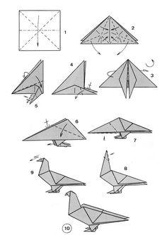 Dove origami