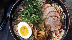 The Ultimate Ramen Recipe i want to try one day. Bringing ramen home takes a trip to an Asian market, three days of work, and your largest pot, but this low-stress (really!) labor of love might be the best soup you'll ever make. Ramen Recipes, Asian Recipes, Cooking Recipes, Ethnic Recipes, Noodle Recipes, Asian Foods, Egg Recipes, Pork Recipes, Comida Ramen