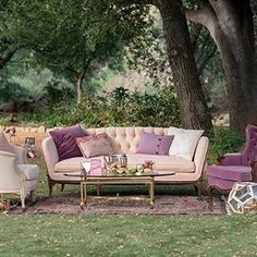 Repost from @kristamasonphotography: This perfectly plum lounge area is so lovely for a fall wedding! #prettyvintagerentals #vintagestyle #lounge #plum #californiawedding #theperfectpalette
