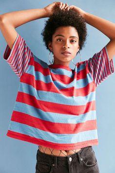 BDG Boston Stripe Ringer Tee - Urban Outfitters