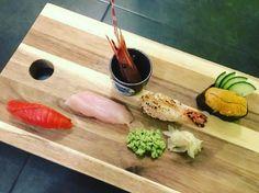 Aburi nigiri snacks.   #districtlocal #ontheDLtip #DLeats #vancouver #veryvancouver #aburi #sushi #kitsilano #yvreats #greenleafsushi #vancouvereats